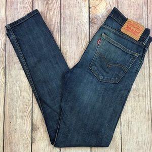 Levi's 510 Skinny Jeans Dark Wash 31 x 34 Stretch